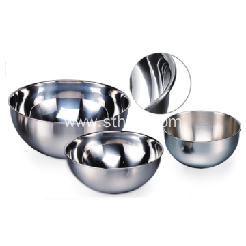 Kitchen Set Stainless Steel Salad Bowl